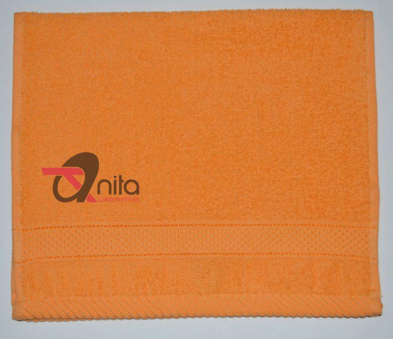 Óvodai törölköző 400 gramm/m2 vastag 30x50 cm narancs