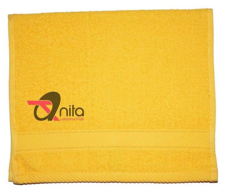 Óvodai törölköző 450 gramm/m2 vastag 30 x 50 cm sárga