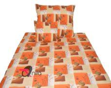 Krepp ágyneműhuzat 17916 narancs