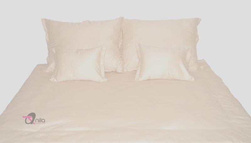 Ekrü pamut-szatén ágyneműhuzat 5 részes