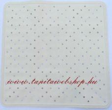 Gumi csúszásgátló tálcába 51 x 51 cm fehér
