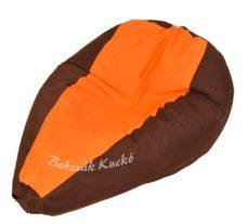 Csepp alakú babzsákfotel barna-narancs
