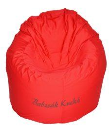 Kagyló alakú babzsákfotel piros