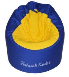 Kagyló alakú babzsákfotel kék-sárga