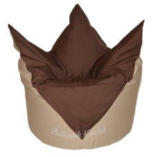 Tulipán alakú babzsákfotel bézs-barna