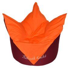 Tulipán alakú babzsákfotel bordó-narancs