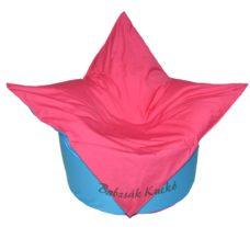 Tulipán alakú babzsákfotel türkiz-pink