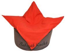Tulipán alakú babzsákfotel LCA 19 szürke - LCA 17 piros