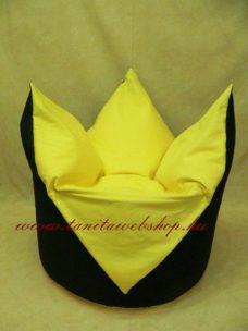 Tulipán alakú babzsákfotel citromsárga
