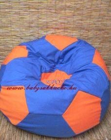 Focilabda alakú babzsákfotel kék - narancs