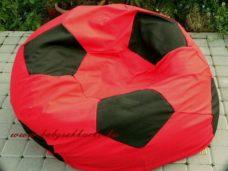 Focilabda alakú babzsákfotel piros - fekete