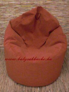 Textilbőr babzsákfotel kagyló forma terra