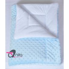 Minky baba paplan ekrü-fehér színben 70 X 90 cm