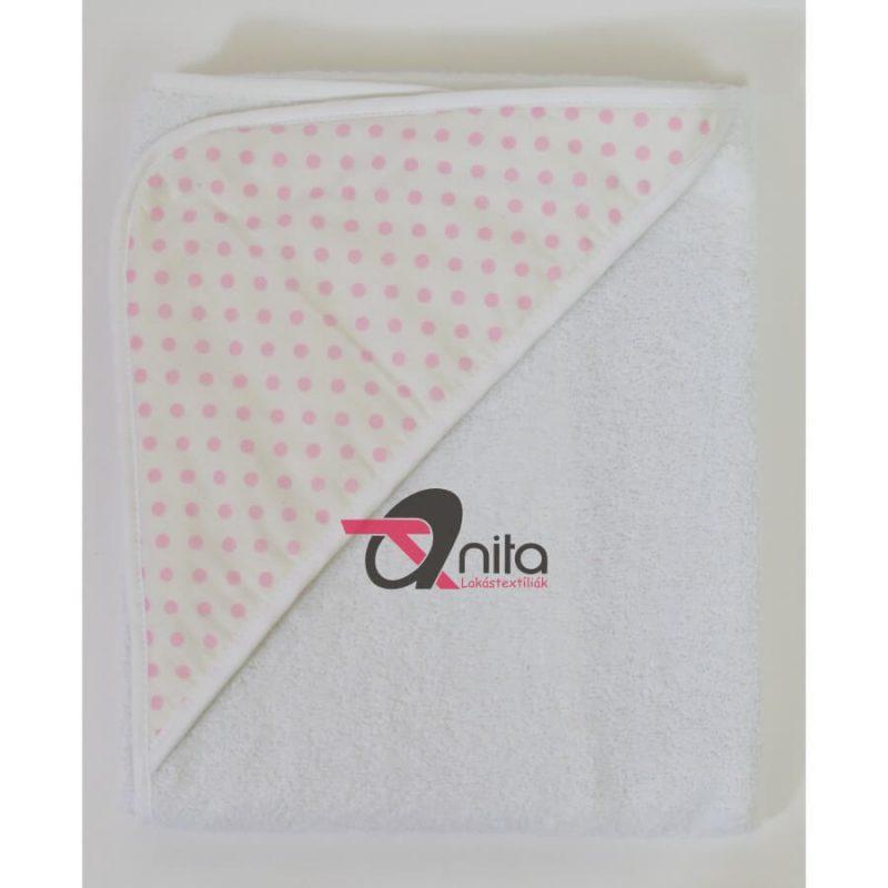 Babakifogó 80×80 cm fehér - 12284-1 rózsaszín