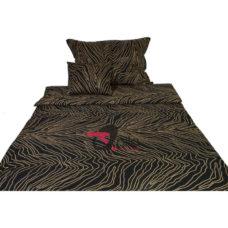 Bengal fekete pamut-szatén ágyneműhuzat 3 részes